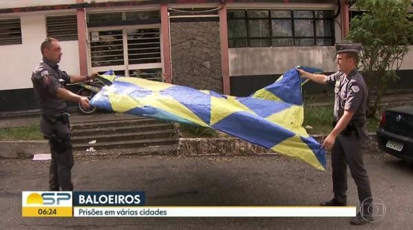 Polícia Ambiental apreendeu balões e prendeu várias pessoas na Grande SP