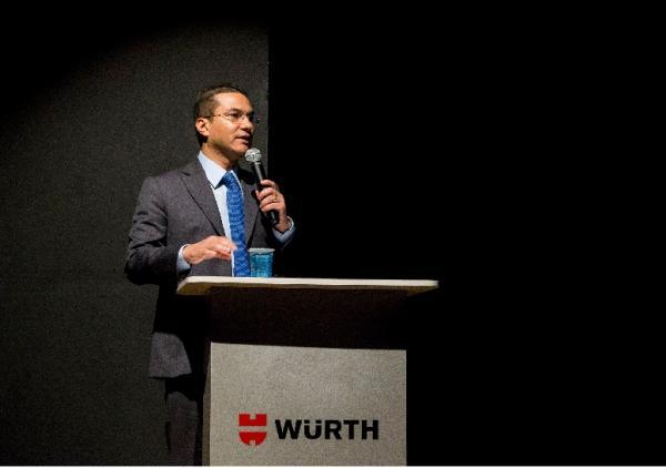 Marcos Pereira realiza palestra junto do prefeito Rogério Franco