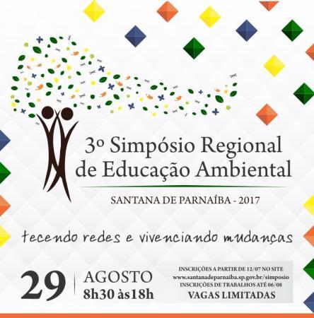 Abertas as inscrições para 3º Simpósio Regional de Educação Ambiental