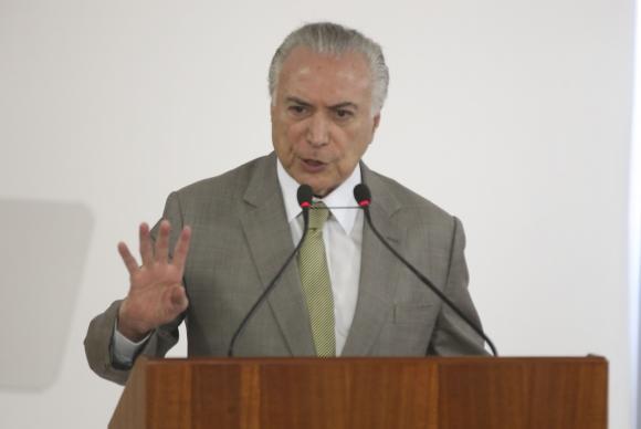 Temer disse que o novo ministério vai promover reuniões permanentes com governadores e secretários de segurança  Arquivo/Antonio Cruz/Agência Brasil