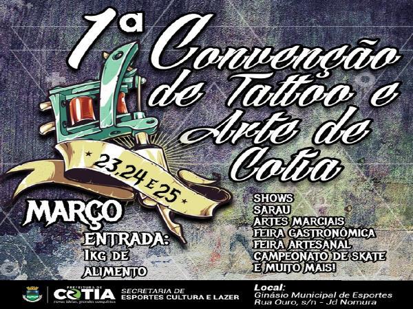 Cotia terá 1ª Convenção de Tattoo e Arte