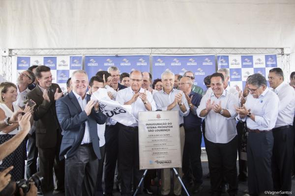 Prefeito Rogério Franco participa da inauguração do novo sistema produtor de água do Estado