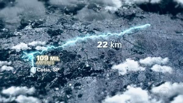 Super raio cai em Cotia e registra um fenômeno raro, informou INPE
