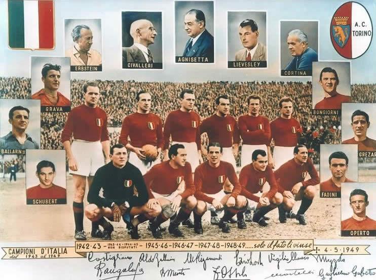 O Torino era a melhor equipe da Itália, sendo base da seleção do país na época.