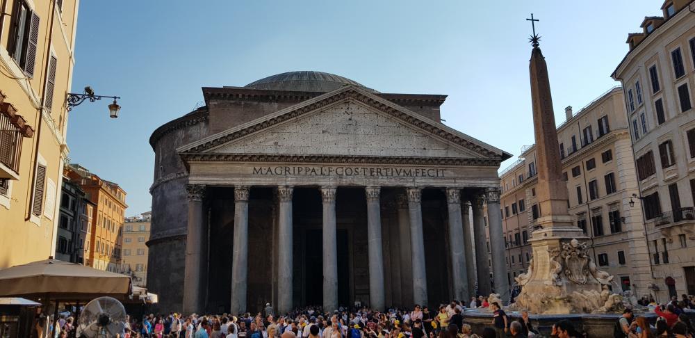O Panteão tem uma arquitetura única e vislumbrante.