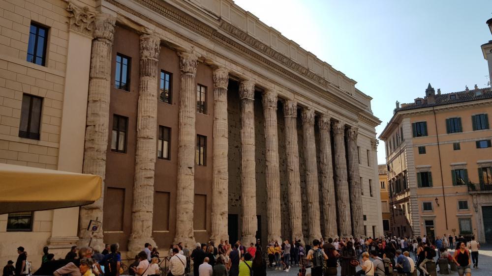 Roma proporciona cenários incríveis.