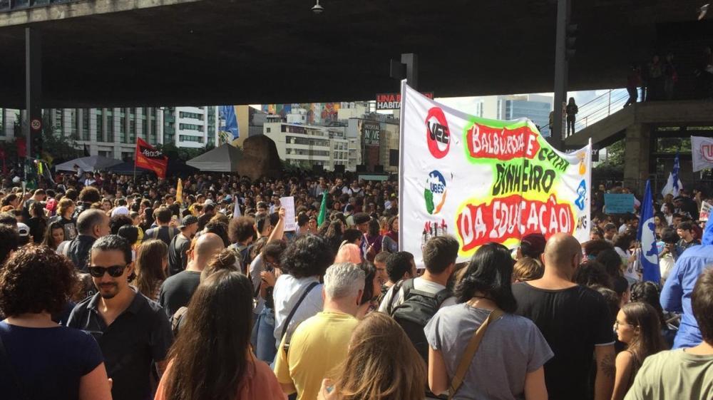 Protesto lota Avenida Paulista — Foto: Gabriela Gonçalves/G1