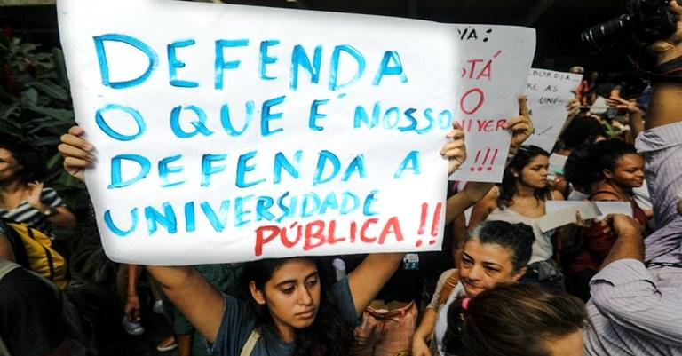 Estudantes que protestam nesta 4ª-feira são