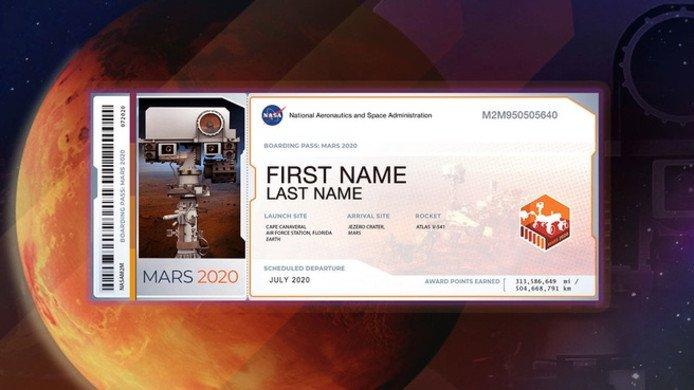 NASA convida o público a enviar seu nome para Marte