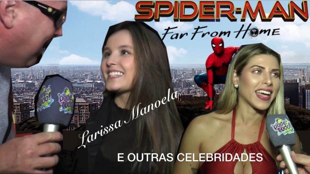 Programa Pode Tudo na cobertura do evento de estréia do Filme Homem Aranha - longe de casa