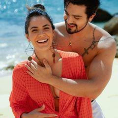 Em Portugal, Luan Santana e Jade Magalhães fazem ensaio romântico