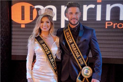 Jeniffer Freitas e Juiliam Ferracioli são eleitos Miss e Mister Paraná 2019; dupla vai disputar título nacional em dezembro