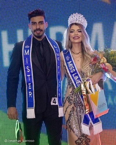 Letícia Sass e Nicolas Fernandes são eleitos Miss e Mister Limeira 2019