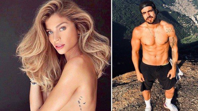 Caio Castro apresenta Grazi como namorada em confraternização de