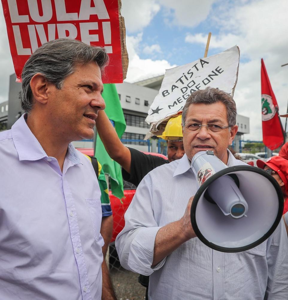 Ex-candidato a presidente Fernando Haddad estará em Osasco no domingo, 8
