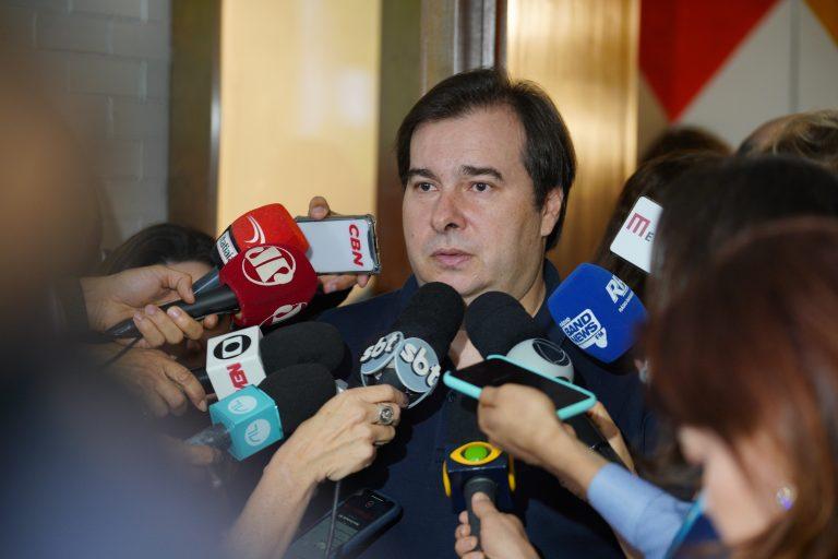 MPF ameaça à liberdade de imprensa, diz Rodrigo Maia