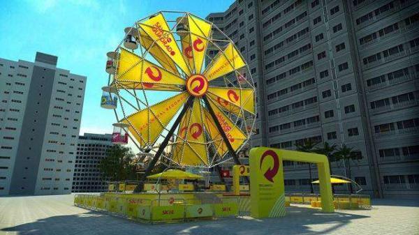 Roda-gigante será instalada no Largo da Batata para o Carnaval