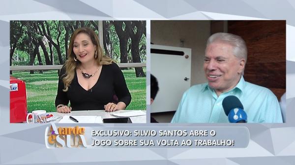 Em entrevista ao 'A Tarde é Sua', Silvio Santos fala sobre fim das férias