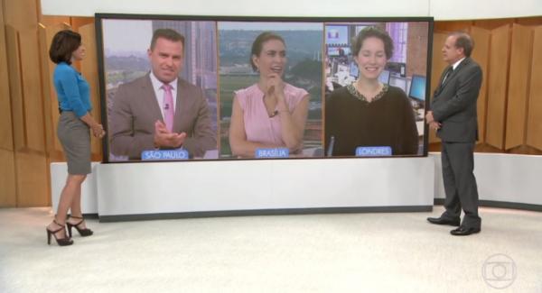 Apresentadores do 'Bom Dia Brasil' imitam Mussum ao vivo